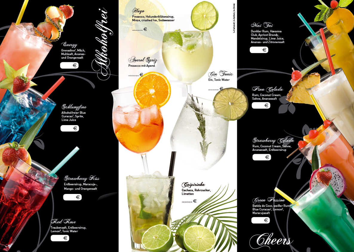 Cocktail Karte.Nr 45 Cocktail Karte